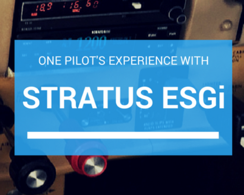 Stratus ESGi pilot experience