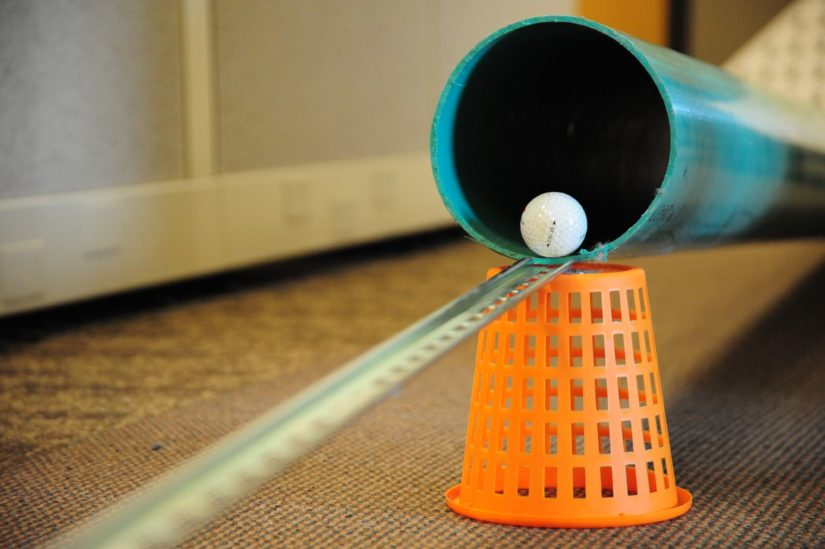 Office mini golf at Appareo