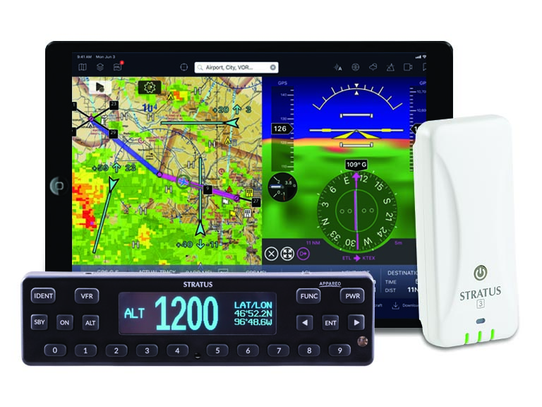 Stratus 3 with iPad and transponder