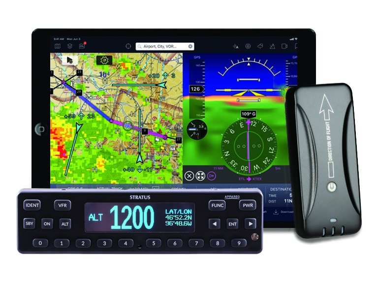 Stratus 3i with iPad and transponder